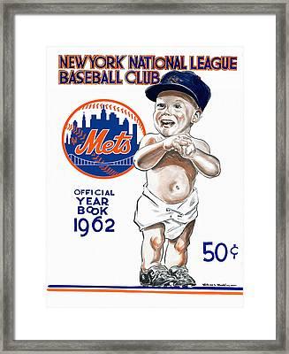 New York Mets 1962 Yearbook Framed Print by Big 88 Artworks