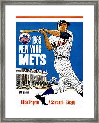 New York Mets 1965 Official Program Framed Print by Big 88 Artworks