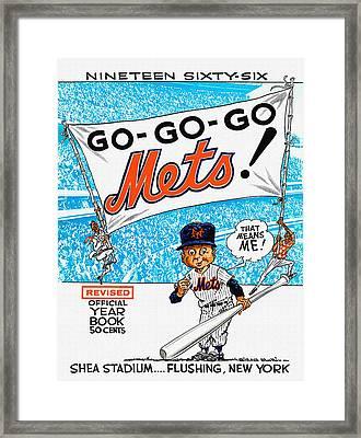 New York Mets 1966 Yearbook Framed Print by Big 88 Artworks