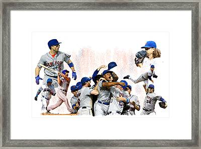 New York Mets 2015  Metropolitan Champions Framed Print by Iconic Images Art Gallery David Pucciarelli