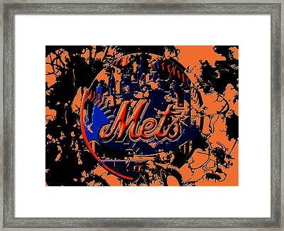 New York Mets 6c Framed Print by Brian Reaves