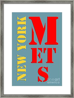 New York Mets Baseball New Typography Framed Print by Pablo Franchi