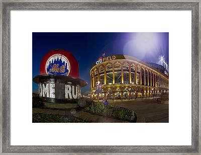 New York Mets Citi Field Stadium Framed Print by Susan Candelario