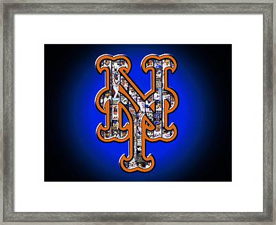New York Mets Framed Print by Fairchild Art Studio