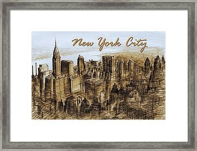 New York City - Mid Manhattan Framed Print