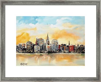New York  Framed Print by Miroslaw  Chelchowski