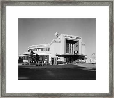 New York Municipal Airport, Marine Air Framed Print by Everett