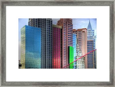 New York-new York - Las Vegas Framed Print by Neil Doren
