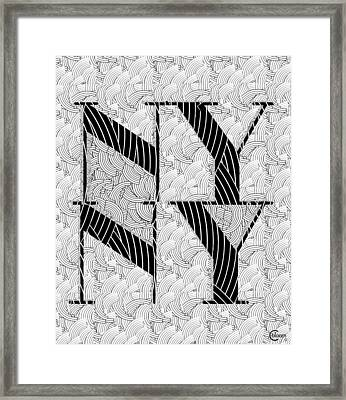 New York New York Deco Swing Framed Print by Cecely Bloom