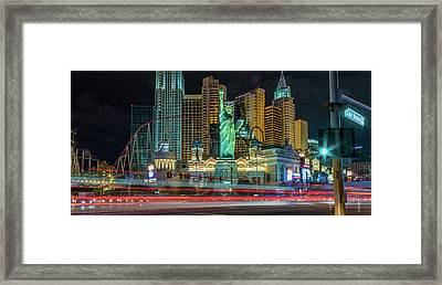 Framed Print featuring the photograph New York New York by Michael Rogers