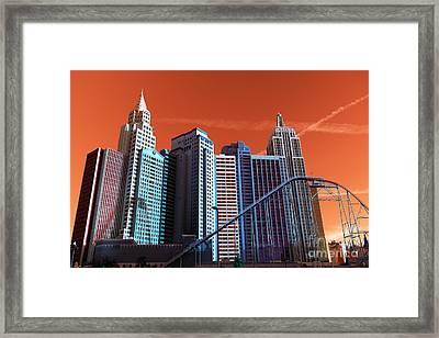 New York New York Pop Art Framed Print by John Rizzuto