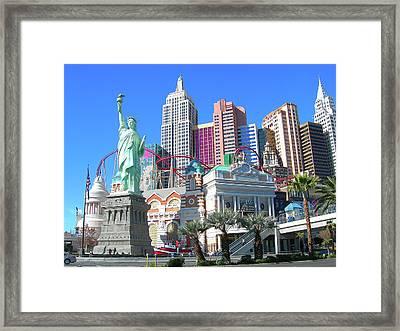 Framed Print featuring the photograph New York New York by Randy Rosenberger