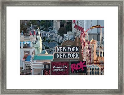 New York New York Strip Framed Print by Andy Smy