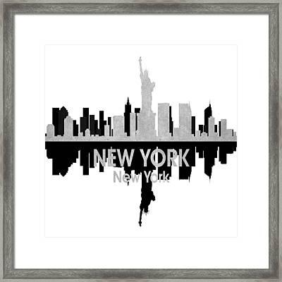 New York Ny 4 Squared Framed Print by Angelina Vick