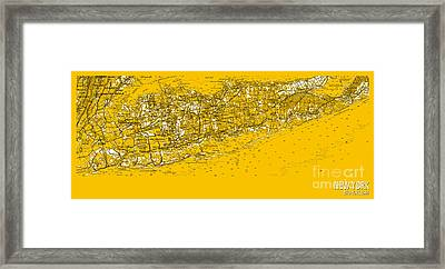 New York Old Map 1954 Framed Print by Pablo Franchi