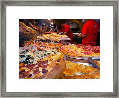 New York Pizza Framed Print by Steve Zimic
