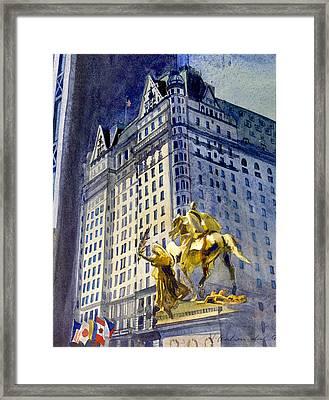 New York  Plaza Hotel Framed Print