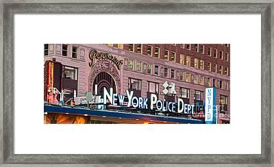 New York Police Times Square Framed Print