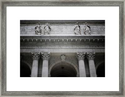 New York Public Library- Art By Linda Woods Framed Print by Linda Woods