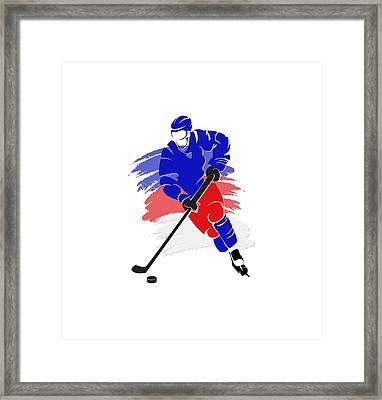 New York Rangers Player Shirt Framed Print