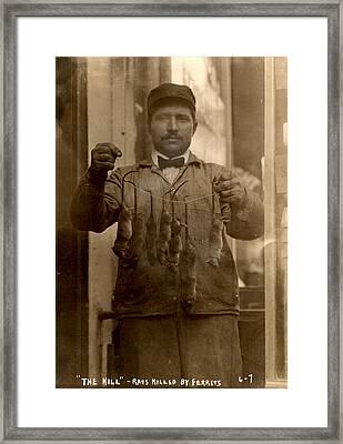 New York, Rat Catcher, Reads The Kill - Framed Print by Everett