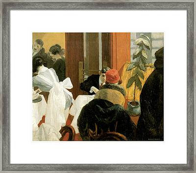 New York Restaurant Framed Print by Edward Hopper