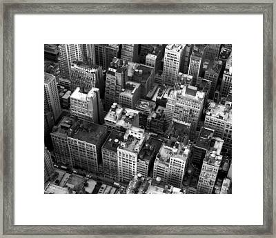 New York Rooftops Framed Print by William  Todd