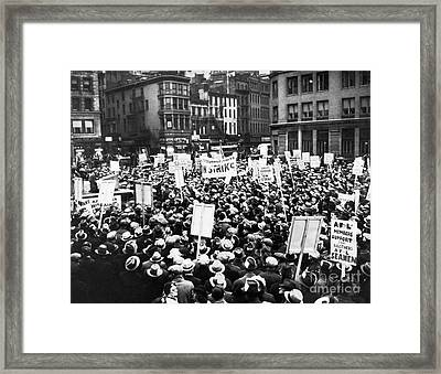 New York: Seamens Strike Framed Print by Granger