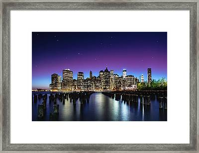 New York Sky Line Framed Print
