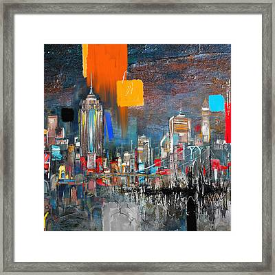 New York Skyline 198 1 Framed Print