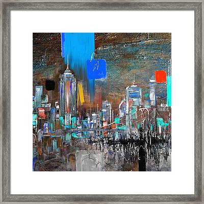 New York Skyline 198 3 Framed Print