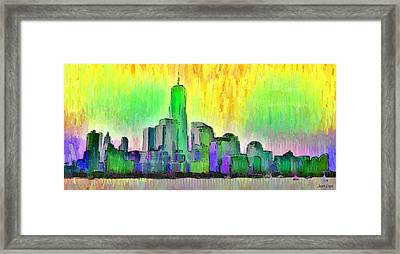 New York Skyline 5 - Da Framed Print by Leonardo Digenio