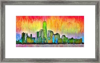 New York Skyline 6 - Da Framed Print by Leonardo Digenio