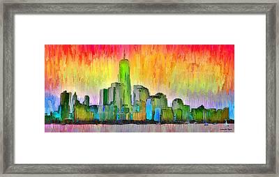 New York Skyline 6 - Pa Framed Print