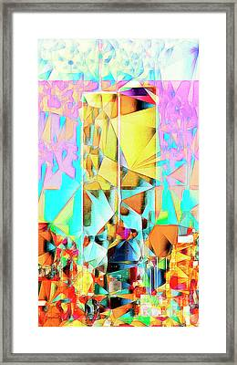 New York Skyline 911 Twin World Trade Center In Abstract Cubism 20170326 Framed Print by Wingsdomain Art and Photography