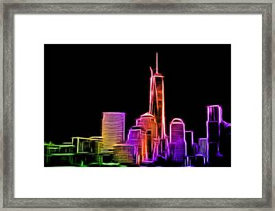 Framed Print featuring the photograph New York Skyline by Aaron Berg