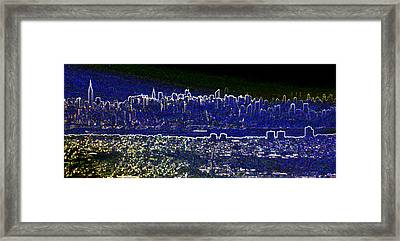 New York Skyline Abstract Framed Print by Robert Ponzoni