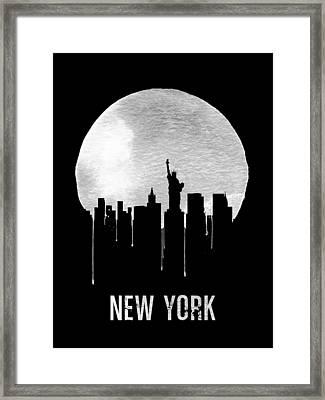 New York Skyline Black Framed Print