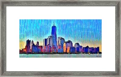 New York Skyline - Da Framed Print by Leonardo Digenio