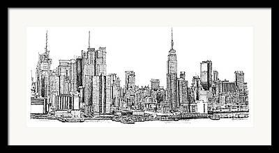 Buildings Drawings Drawings Framed Prints