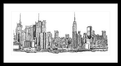 Architectural Drawings Framed Prints