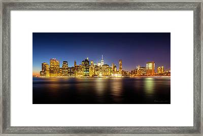 New York Skyline Framed Print by Marvin Spates