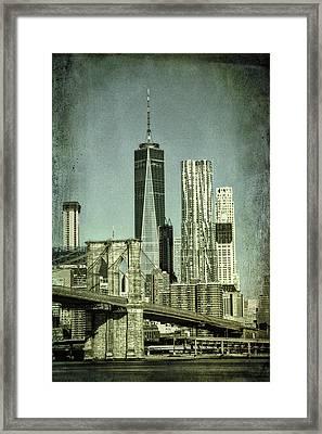 New York Skyline Framed Print by Mike Burgquist