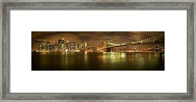 New York Skyline Framed Print by Shubhra Pandit
