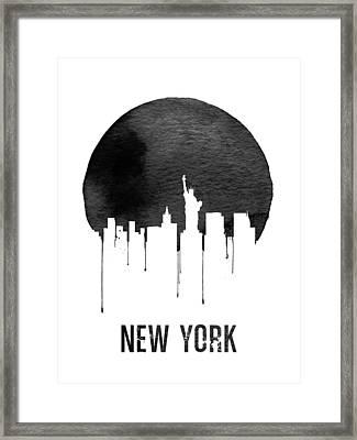 New York Skyline White Framed Print