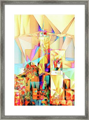Framed Print featuring the photograph New York Skyline World Trade Center In Abstract Cubism 20170326 by Wingsdomain Art and Photography