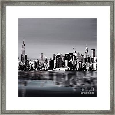 New York Skylines 04 Framed Print