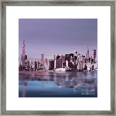 New York Skylines 043 Framed Print