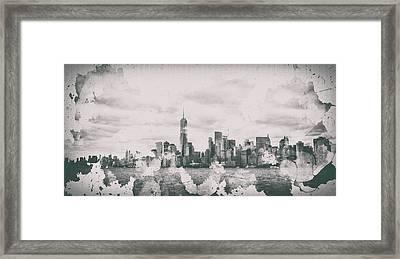 New York Splatter Framed Print
