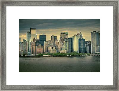 Framed Print featuring the photograph New York State Of Mind by Ryan Smith